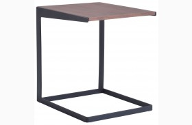 Sister Walnut & Black Side Table