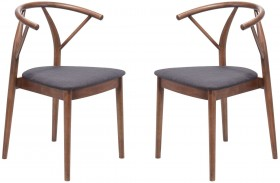 Communion Espresso Dining Chair Set of 2