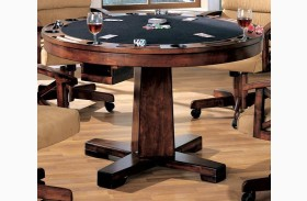 Marietta Black Convertible Bumper Pool & Poker Dining Table