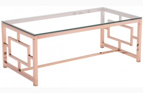Geranium Rose Gold Coffee Table