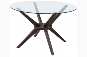Cell Dark Walnut Round Dining Table