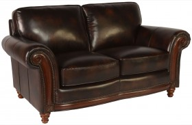 Century Toberlone Leather Loveseat
