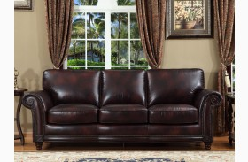 Century Toberlone Leather Sofa