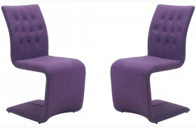 Hyper Purple Dining Chair Set of 2