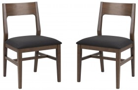 Melvin Umber Brown Dining Chair Set of 2