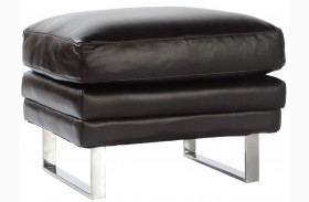 Melbourne Dark Chocolate Leather Ottoman