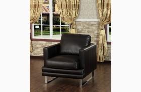 Melbourne Dark Chocolate Leather Chair
