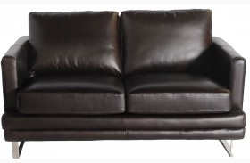 Melbourne Dark Chocolate Leather Loveseat
