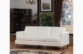 Melbourne White Leather Sofa