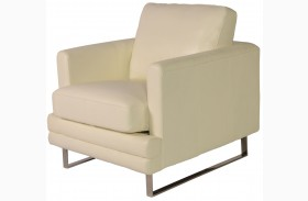 Melbourne White Leather Chair
