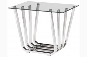 Fan Chrome Side Table