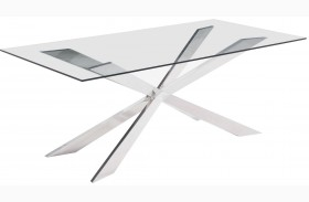 Rize Chrome Rectangular Dining Table