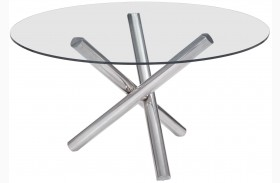 Stant Chrome Round Round Dining Table
