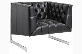 Viper Black Leather Armchair