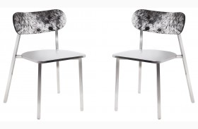 Stanley Cowhide Back Dining Chair Set of 2