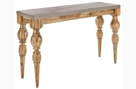 Louis Golden Distressed Console Table