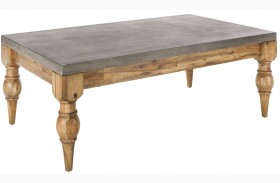 Louis Golden Distressed Coffee Table