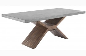 Vixen Medium Brown Rectangular Dining Table