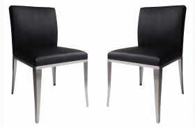 1008-DC Black Dining Chair Set of 2