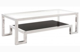 Storm Glass Top Coffee Table