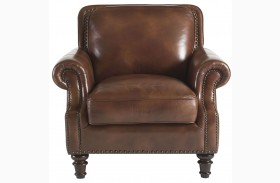 Bentley Rustic Sauvage Leather Chair