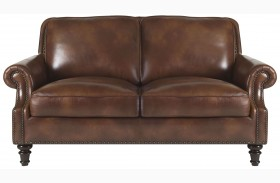 Bentley Rustic Sauvage Leather Loveseat