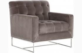 Alexandria Giotto Grey Fabric Armchair