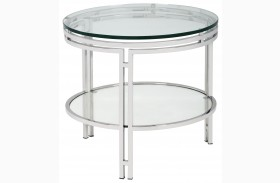 Andros Glas Top End Table