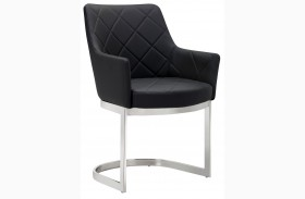 Chase Black Cantilever Dining Chair