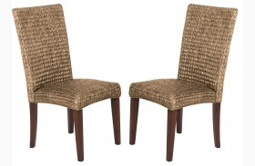 Westbrook Banana Leaf Natural Side Chair Set of 2