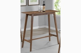 Natural Walnut Rectangular Bar Table