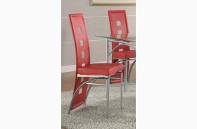 Los Feliz Red Dining Chair Set of 2