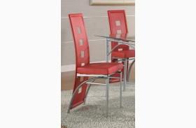 Los Feliz Red Dining Chair Set of 2
