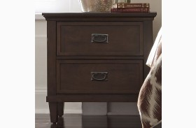 Berkley Heights Antique Washed Walnut 2 Drawer Nightstand