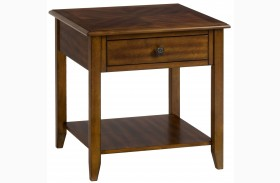 Medium Brown End Table
