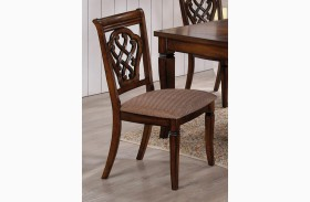Oak Side Chair 103392 Set of 2