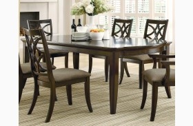 Meredith Espresso Rectangular Dining Table