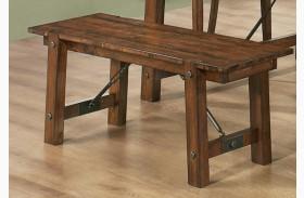 Lawson Rustic Oak Bench