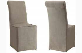 Galloway Cream Upholstered Side Chair Set of 2
