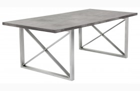 Catalan Sealed Concrete Top Rectangular Dining Table