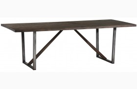 Genoa Wire Brushed Cocoa Rectangular Dining Table