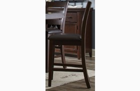 Holbrook Dark Brown and Antique Tobacco Counter Height Stool Set of 2