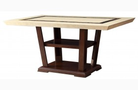 Lacombe Cappuccino Rectangular Dining Table