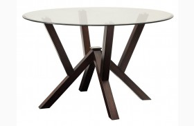 Beaux Cappuccino Round Dining Table