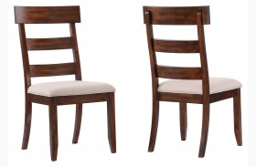 Montague Rustic Brown Fabric Dining Chair Set of 2