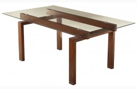 Rossine Red Brown Rectangular Dining Table