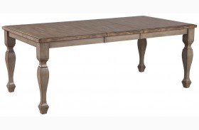 Riverbend White And Antique Dining Table