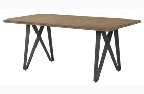 Ferguson Rustic Taupe Rectangular Dining Table
