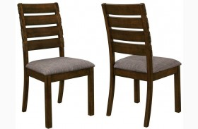 Wiltshire Rustic Pecan Dining Chair Set of 2