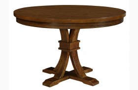 Abrams Truffle Round Dining Table